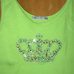 Nally & Millie jeweled crown tank